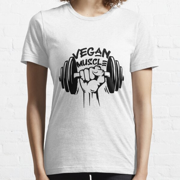 Vegan Muscle Tee Shirt , Funny gym Essential T-Shirt Essential T-Shirt