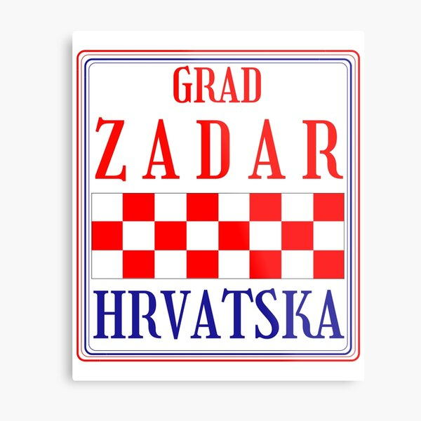 Croatian City of Zadar Metal Print