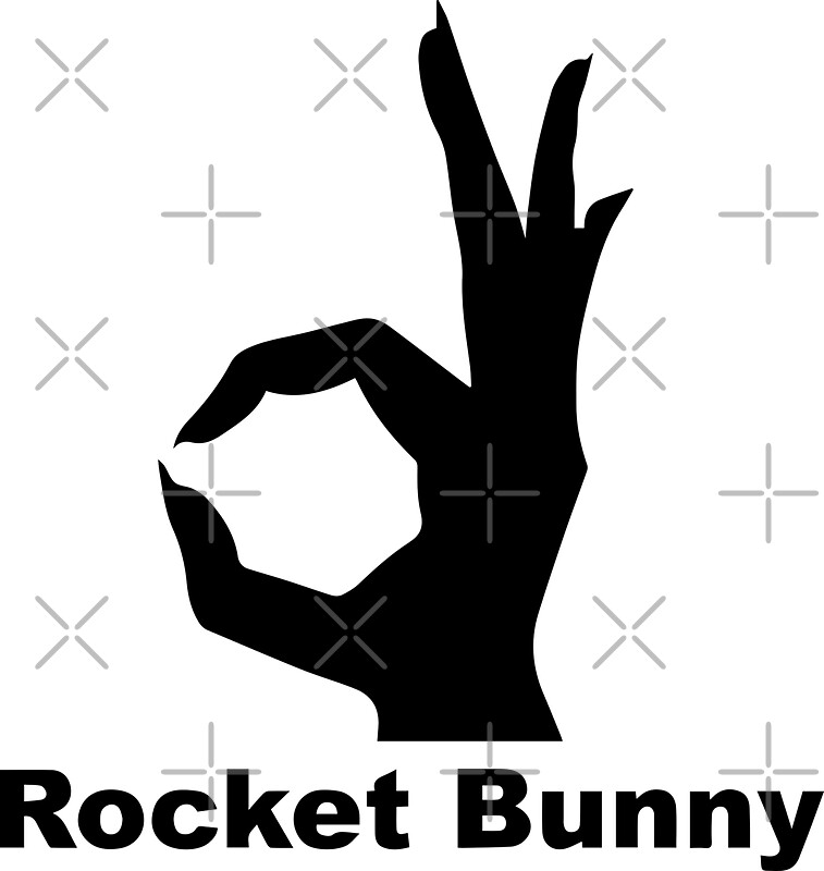 Quot Rocket Bunny Black Quot Stickers By Jdmshop Redbubble