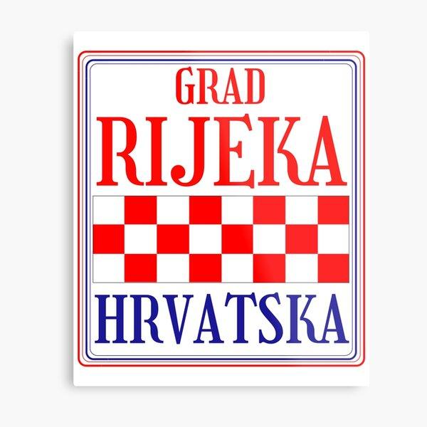 Croatian City of Rijeka Metal Print