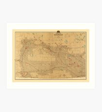 Canadian Mounted Police Map Art Print