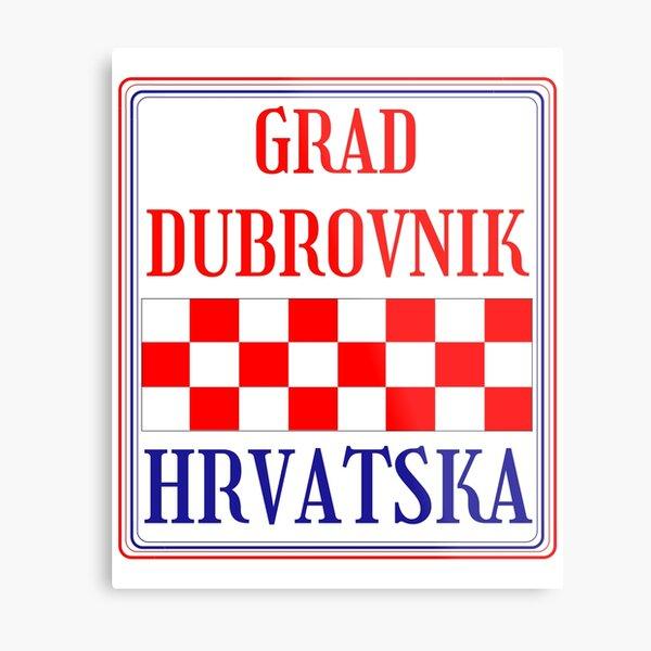 Croatian City of Dubrovnik Metal Print
