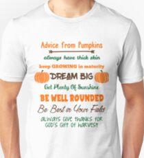 Advice From Pumpkins Unisex T-Shirt