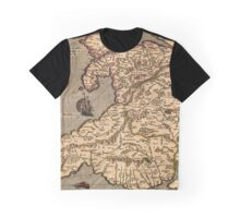 Vintage Map of Wales 1633 Graphic T-Shirt