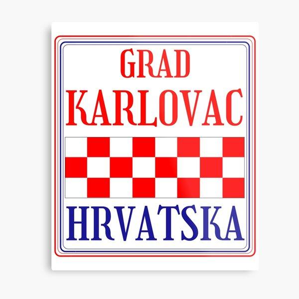 Croatian City of Karlovac Metal Print