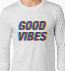 Good Vibes Techicolor Long Sleeve T-Shirt