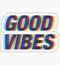Good Vibes Techicolor Sticker
