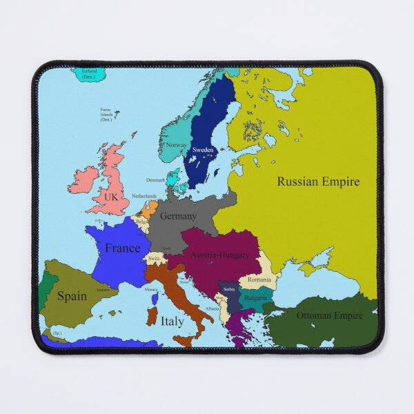 Europe 1914 Mouse Pad