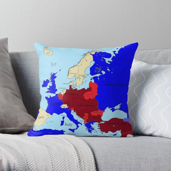 World War I Europe Throw Pillow