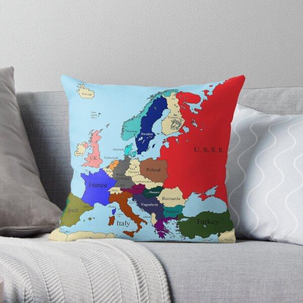 Europe 1989 Throw Pillow