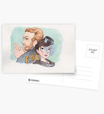 Andy & April from Parks and Recreation as Burt Macklin & Janet Snakehole Postcards