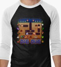Dug Dig Men's Baseball ¾ T-Shirt