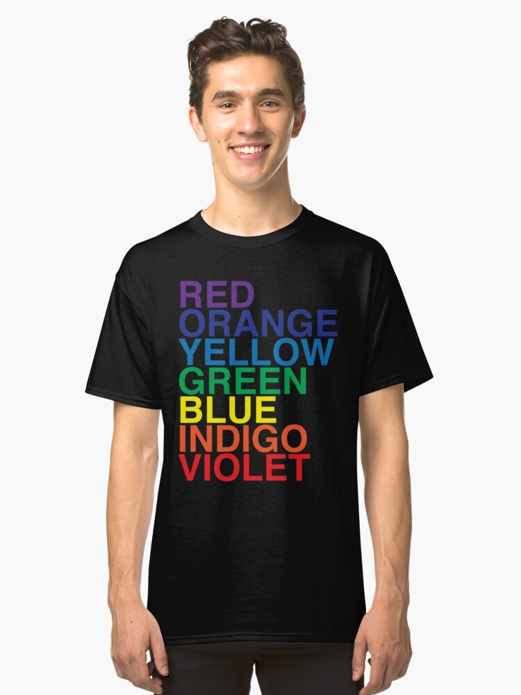 ROYGBIV Reverse by BenCapozzi Classic T-Shirt Front