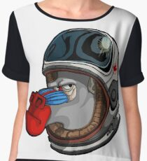 Space Mandrill Chiffon Top
