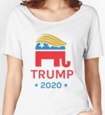 Donald Trump 2020 Elephant Women's Relaxed Fit T-Shirt