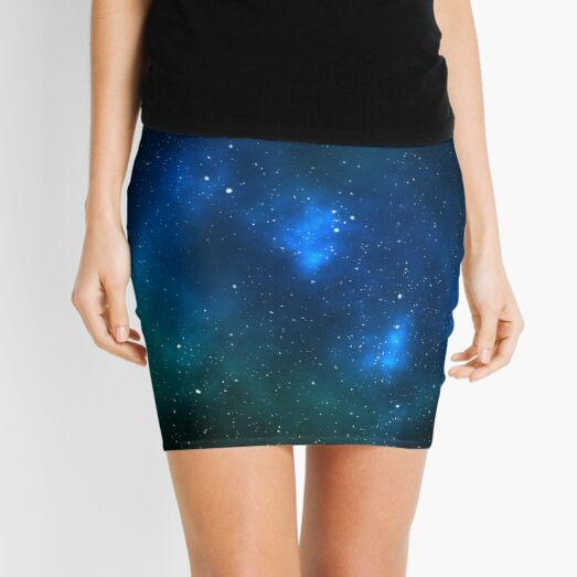 Space Nebula Artwork Mini Skirt