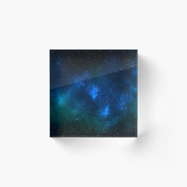 Space Nebula Artwork Acrylic Block