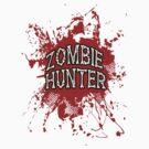 Zombie Hunter Red splatter by Tony  Bazidlo