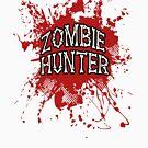 Zombie Hunter Red splatter by thatstickerguy