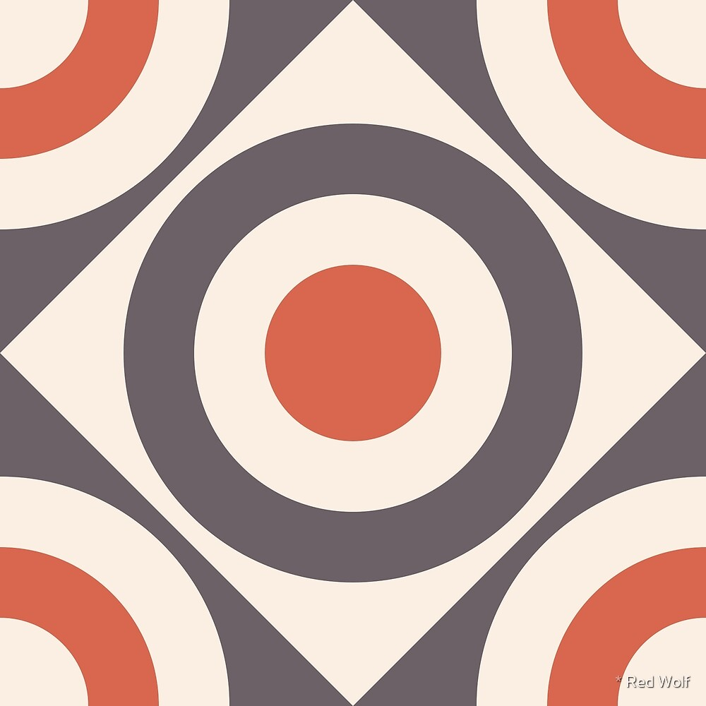 Geometric Pattern: Rondel Diamond: Brick by * Red Wolf