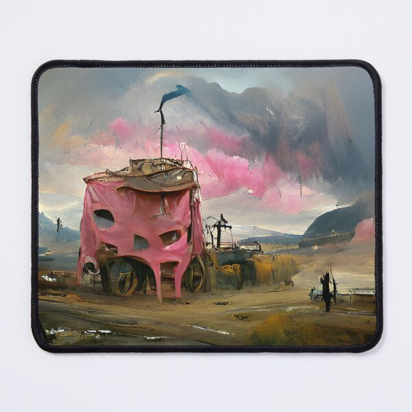 Exoplanet 004 | AI-generated classical style artwork | gan art print Mouse Pad