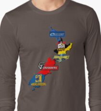 Super Rugby regions New Zealand Long Sleeve T-Shirt
