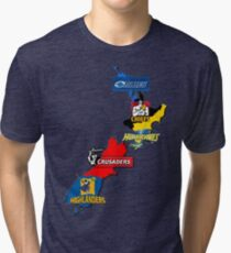 Super Rugby regions New Zealand Tri-blend T-Shirt