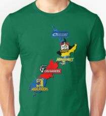 Super Rugby regions New Zealand Unisex T-Shirt