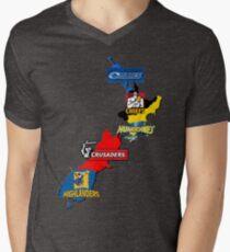 Super Rugby regions New Zealand Men's V-Neck T-Shirt