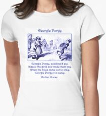 Georgie Porgy Mother Goose Illustrated Nursery Rhyme T-Shirt