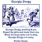 Georgie Porgy Mother Goose Illustrated Nursery Rhyme by Marian Cates