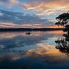 Kayaking at Sunset on Lake Martin, Louisiana by Bonnie T.  Barry