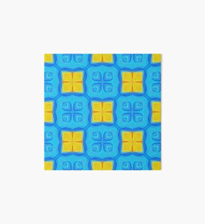 Yellow Blue DeepDream Pattern Art Board
