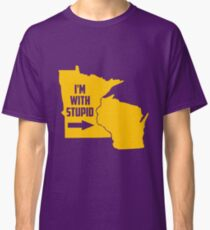 Minnesota I'm With Stupid Classic T-Shirt