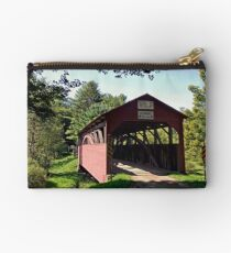 Approaching The Buckhorn Covered Bridge From The Far Side Studio Pouch