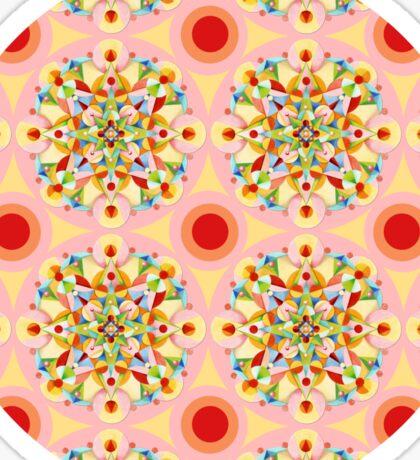 Groovy Carousel Mandala Sticker