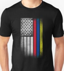 0a0db2a0174 Colombian American Flag - Half Colombian Half American Slim Fit T-Shirt