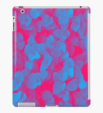 Nature Pattern - # 3 Leaves (Blue Red) iPad Case/Skin