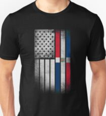 Dominican American Flag - Half Dominican Half American  T-Shirt