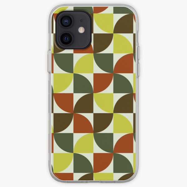 Brown and Green Mid Century Mod iPhone Soft Case