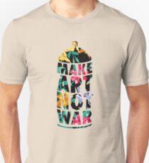 Make Art Not War (Flower) Unisex T-Shirt