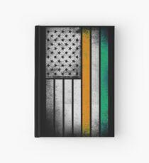 Irish American Flag - Half Irish Half American Hardcover Journal