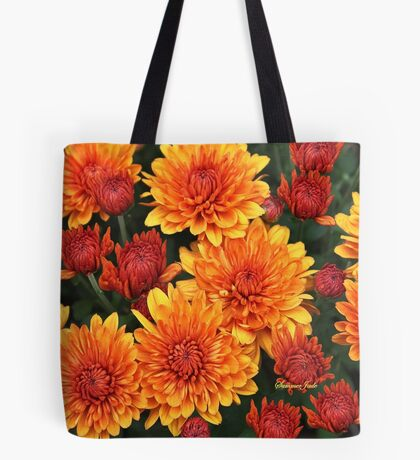 Fall Fancy ~ Rust Color Button Mums Tote Bag