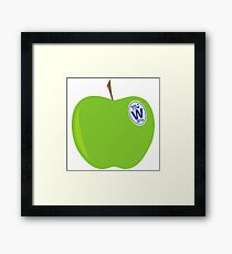 green apples - cubs world series champs Framed Print