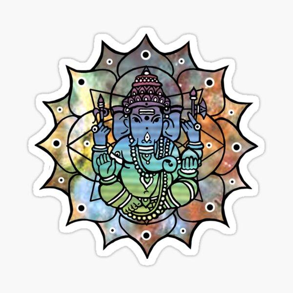 Colorful Ganesh Sticker