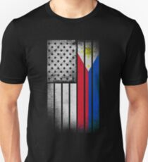 Filipino American Flag - Half Filipino Half American T-Shirt
