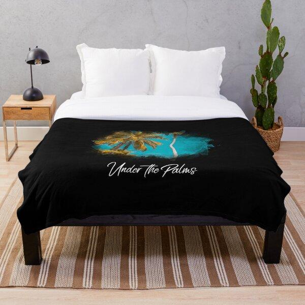 Under the Palms Throw Blanket
