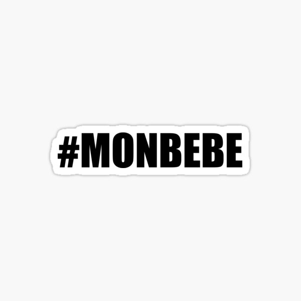 #MONBEBE | {BLACK text vers.} Sticker