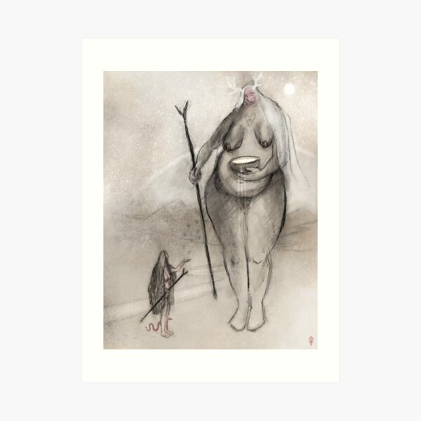 Æþel Hielda - Ancestral Guardians Art Print