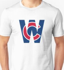 Cubs W Chicago Cubs W with Red/Blue C Unisex T-Shirt